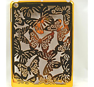 Golden Hollow Butterfly Back Cover Plastic Case for iPad Air