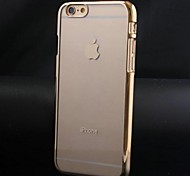 Fashion Metal Plating PC Hard Case for iPhone 6 Plus