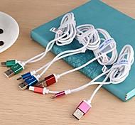 kucipa / K45-v8 dados 2.5a cabo de carregamento USB iluminação para samsung telefone celular (cores sortidas)