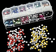 2500PCS 2MM Round Acrylic Rhinestone Nail Art Decoration