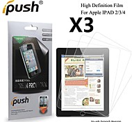High Transparency HD LCD Screen Protector for iPad 2/3/4 (3 Pieces)