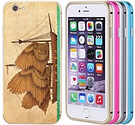 Lacdo® Old Ship Back Cover Aluminium Metal Bumper Frame Case Full Protect for iPhone 6 Plus (Assorted Colors)