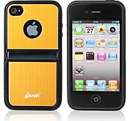 Multi-Function Scaffold Metal Hard Case for iPhone 4/4S (Assorted Colors)