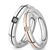 Ring Inlay Zircon AAA Class Quality Titanium Steel Couples Love Gift Promis rings for couples