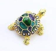 Gorgeous Turtle Tortoise Jewelled Trinket Box Jewelry Box with Inlaid Crystal, Pill Box Figurine, Feng Shiu Gifts