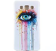 motif larmes coloré TPU étui souple pour Samsung Galaxy a3 / A3000