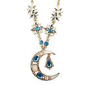 elegantes sol luna collares de moda opal estrella de cristal gota colgante de collar de la mujer de la vendimia para las mujeres 2014