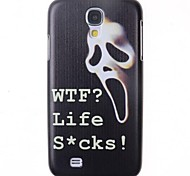 Cartoon Horrible White Mask Pattern Back Cover for Samsung Galaxy S4 I9500