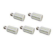 E26/E27 LED Mais-Birnen 60 SMD 5050 630 lm Natürliches Weiß AC 220-240 V 5 Stück