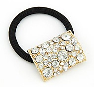 Korean Fashion Exquisite Diamond Hollow Square Hair Ties