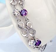 925 Sterling Silver Double Eight Bracelet