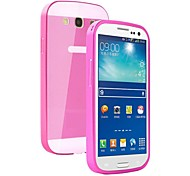 LUPHIE® Super Thin Shine Acrylic Cover Back Metal Frame Full Body Case for Samsung Galaxy S3/I9300