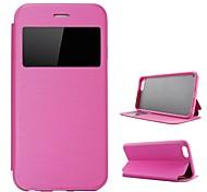 chegada nova flip-aberto caso w / stand / janela de exibição para iphone 6 (cores sortidas)