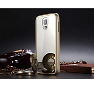 Luphie No Screw Acylic Mirror Back Cover with Aluminum Metal Frame for Samsung Galaxy S5 I9600 (Assorted Colors)