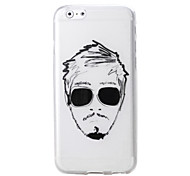 Fashion Cool Man and Girl Pattern TPU Soft Case for iPhone 6