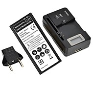 Replacement 3.85V 3800mAh Li-ion Battery with Charging Station and EU Plug for Samsung Galaxy Note 4 / N9100