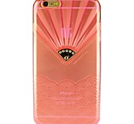 Fan-Shaped Transparent TPU Cases for iPhone 6S/6 Plus(Assorted Color)
