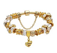 Gold I Love You Pendant Charm Bracelet for Valentine and Christmas Gift