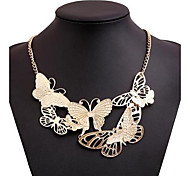 Women's Vintage Butterfly Alloy Necklace