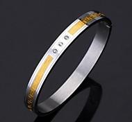 u7® vintage g 316l 18k de aço inoxidável banhado a ouro pulseira cuff