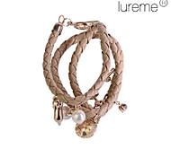 Women's  PU Woven Alloy Bracelet