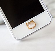 natürlicher Opal Katze Hauptknopfaufkleber für iphone (Farbe sortiert)
