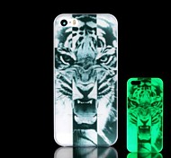Tiger Pattern Glow in the Dark Hard Case for iPhone 4/4S