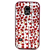 2-in-1 Hand Painted Rose Pattern TPU Back Cover with PC Bumper Shockproof Soft Case for Samsung S5 Mini