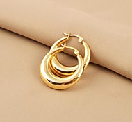 Modehochglanz Edelstahl 316L vergoldet Ohrring
