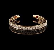Women's Fashion Quality  Two Row Diamante Cuff Bracelet(More Colors)