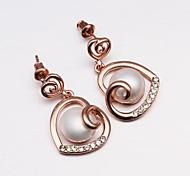 Women's New 18KRGP Elegent Pearl Earrings