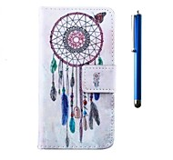4.5 Inch PU Wallet PU Leather Case and Pen with Stand for LG L70