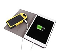 5000mAh Waterproof Sports Solar Power Bank Dual USB with MIicro Connector for iPhone6/5 Samsung and other Mobile Devices