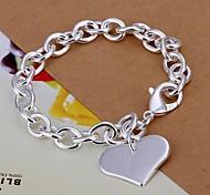 le bracelet en argent 925 de coeur (1pc)