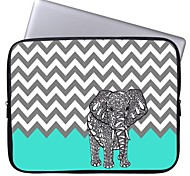 Elonbo Chevron and Elephant 13'' Laptop Waterproof Sleeve Case Bag for Macbook Pro/Air Dell HP Acer