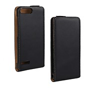 Flip-Open Solid Color Pattern Genuine Leather Full Body Case for Huawei Ascend P7 Mini/G6 (4G)