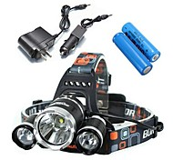 LS052 5000Lm 3xCREE XM-L T6 LED Bike Headlight Headlamp Suit(2X18650)