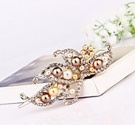 1Pc Characteristic Imperial Elegant Imitation Pearl Hair Clip