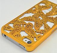 goldenen hohlen Schmetterling Mobile Shell, zurück-Fällen Abdeckung Kunststoff für iPhone 4 / 4S