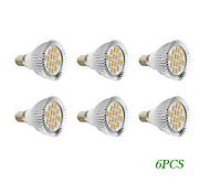 4W E14 / GU10 Focos LED 16 SMD 5730 280 lm Blanco Cálido / Blanco Fresco AC 100-240 / AC 110-130 V 6 piezas