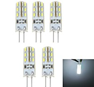 G4 1.5W 24*5 SMD 3014 500 LM Natuurlijk wit T LED-maïslampen DC 12 V