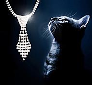 Super Flash collares corbata de moda collar de diamantes tamaño pequeño para perros