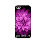 Personalized Phone Case - Pink Flowers Design Metal Case for iPhone 5/5S