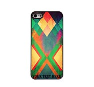 Personalized Phone Case - Yellow Rhombus Design Metal Case for iPhone 5/5S
