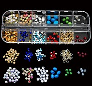 12 Styles Mix Rhinestone Fashion Stone Beauty DIY Nail Art Decoration