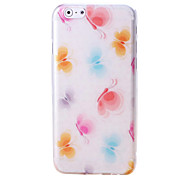 Butterfly Pattern TPU Soft Case for iPhone 6