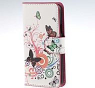 For Samsung Galaxy Case Card Holder / with Stand / Flip / Pattern / Magnetic Case Full Body Case Butterfly PU Leather Samsung A3