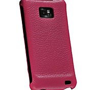 Littch Pattern Genuine Leather Flip Case for Samsung Galaxy S2 i9100 (Assorted Colors)