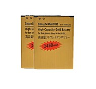 2 PCS Replacement 3450mAh Rechargeable Dual Cell Li-ion Battery for Samsung Galaxy S4 Mini / i9190 (Golden)