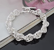 Bracelet Anklet Silver Unique Design Fashion Gift Valentine Jewelry Gift1pc